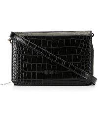MSGM Мини-сумка Через Плечо С Тиснением Под Крокодила - Черный