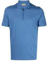 Corneliani ジップ ポロシャツ - ブルー
