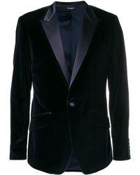 Dolce & Gabbana Blazer con revers stretti - Nero