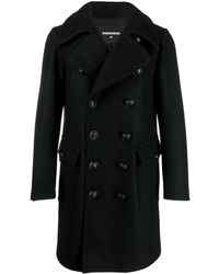 DSquared² Manteau à boutonnière croisée - Noir