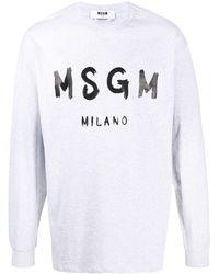 MSGM - Толстовка С Логотипом - Lyst