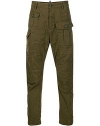 DSquared² Panelled Frayed Trousers - Green