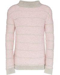 Eckhaus Latta ストライプ セーター - ピンク