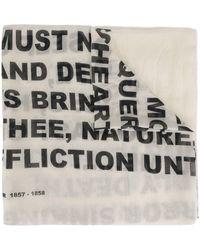 Rick Owens Drkshdw Typeface Scarf - White