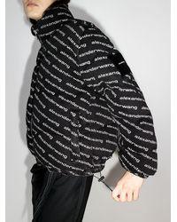 Alexander Wang Пуховик На Молнии С Логотипом - Черный