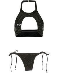 Amir Slama Sequinned Bikini Set - Black