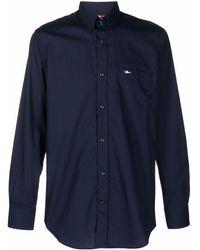 Paul & Shark ロゴ オックスフォードシャツ - ブルー
