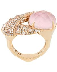Stephen Webster 18kt Rose Gold, Opal And Diamond Crab Pincer Crystal Haze Ring - Metallic