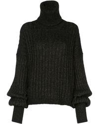 Uma Wang タートルネックセーター - ブラック