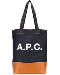 A.P.C. Джинсовая Сумка На Плечо С Логотипом - Синий