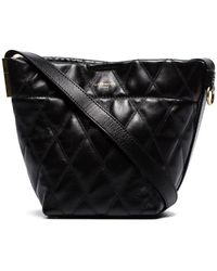 Givenchy Mini Gv Quilted Leather Bucket Bag - Black