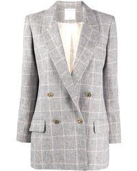 Sandro Check Pattern Blazer - Grey
