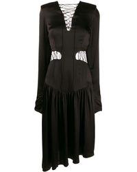 Matériel ウエストタイ ドレス - ブラック