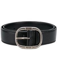 Prada - Pebbled Texture Belt - Lyst