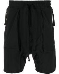 Thom Krom Drawstring-waist Drop-crotch Shorts - Black