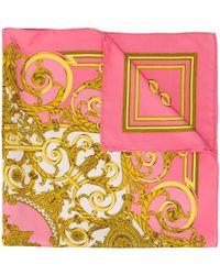 Hermès Foulard con stampa barocca - Rosa