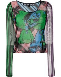 Chopova Lowena Double Mesh Blouse - Blue