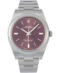 Rolex Наручные Часы Oyster Perpetual Pre-owned 34 Мм 2020-го Года - Красный