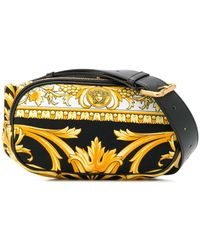 Versace バロックプリント ベルトバッグ - イエロー