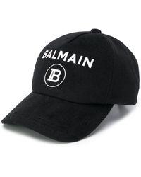 Balmain Бейсбольная Кепка С Логотипом - Черный