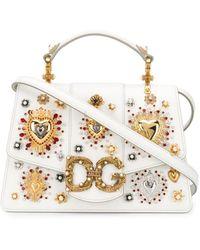 Dolce & Gabbana - Декорированная Сумка С Логотипом - Lyst
