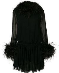 Saint Laurent - Long-sleeve Fitted Dress - Lyst