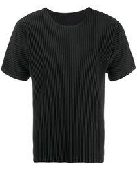 Homme Plissé Issey Miyake T-shirt plissettata - Nero