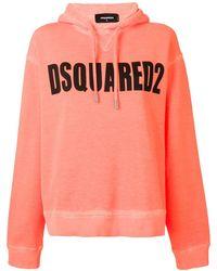 DSquared² Худи С Логотипом - Оранжевый