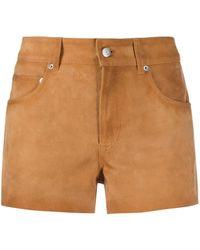 Golden Goose Deluxe Brand Suede Mini Shorts - Brown
