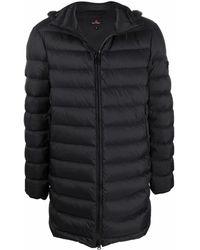 Peuterey Padded Zip-up Down Coat - Black