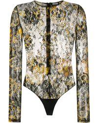 Versace Jeans Couture Боди С Цветочным Принтом И Узором Baroque - Черный
