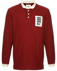 Kent & Curwen ロングスリーブ ポロシャツ - レッド