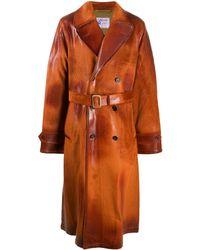Marni Вощеное Пальто - Оранжевый