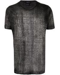 Avant Toi T-shirt à effet texturé - Noir