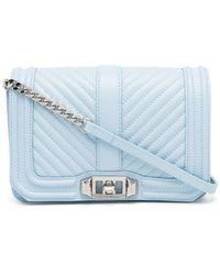 Rebecca Minkoff Bolso satchel Love acolchado - Azul