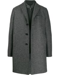 Harris Wharf London Layered Coat - Grey