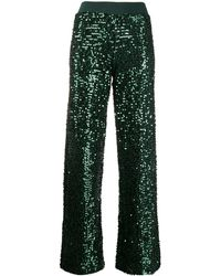 P.A.R.O.S.H. Sequin-embellished Culottes - Green