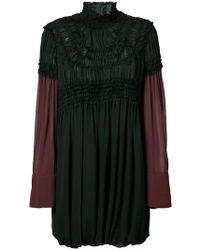 Vera Wang - High Neck Empire Dress - Lyst