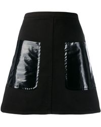 N°21 オーバーサイズ ポケット スカート - ブラック