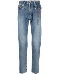 Mastermind Japan High-rise Straight Leg Jeans - Blue