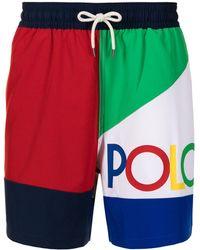 Polo Ralph Lauren - カラーブロック トランクス水着 - Lyst