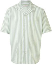Cerruti 1881 Striped Short Sleeved Shirt - White