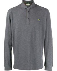 Etro ロゴ ポロシャツ - グレー