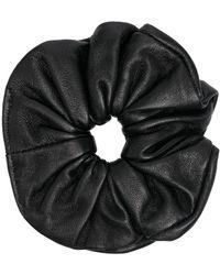 Manokhi レザー ヘアゴム - ブラック