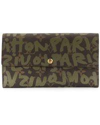Louis Vuitton Portafoglio con stampa - Verde