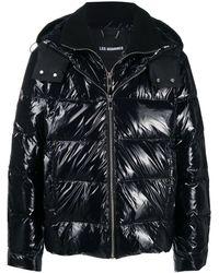 Les Hommes フーデッド パデッドジャケット - ブラック