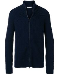 Etro Chunky Knit Zipped Turtleneck - Синий