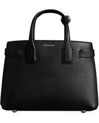 Burberry The Small Banner In Leather - Black
