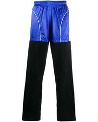 Balenciaga バイカラー ジョガーパンツ - ブルー