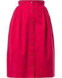 Dior Jupe mi-longue à design froncé - Rose